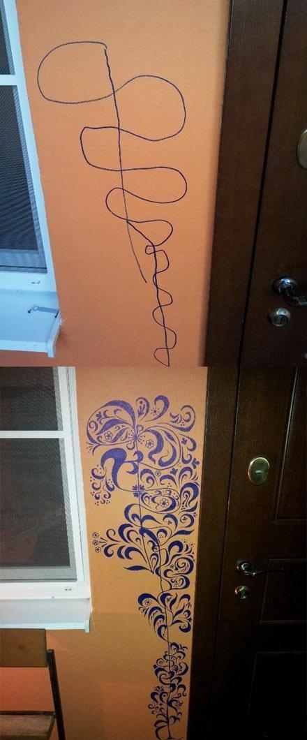 やんちゃな子供の落書きを『神改善』で美しい装飾に!これで子供には怒れない|| ^^ |秒刊SUNDAY2