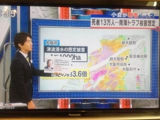 004南海トラフ地震で大阪府の死亡者13万人