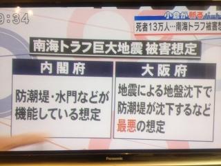 005南海トラフ地震で大阪府の死亡者13万人
