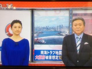 018 南海トラフ地震で大阪府の死亡者13万人