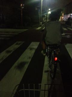 夜のサイクリング