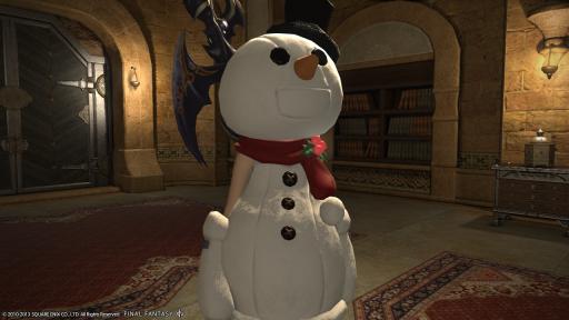 新生14 98日目 雪だるまを着てこんばんにゃ~♪