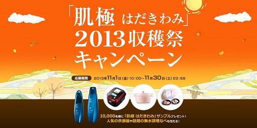 肌極 2013収穫祭キャンペーン