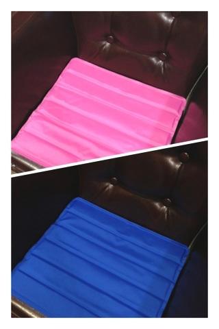 ピンクとブルーのリバーシブル