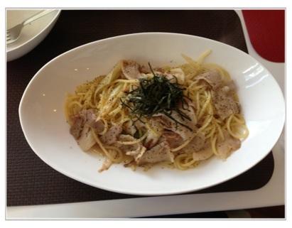 豚肉と白葱の和風パスタ