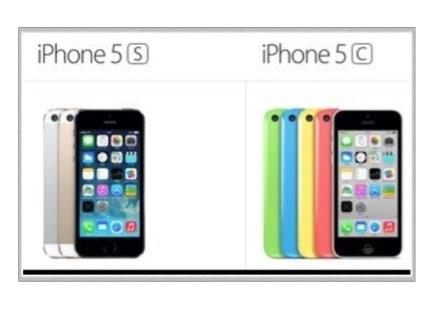 新型iPhone5s・iPhone5c