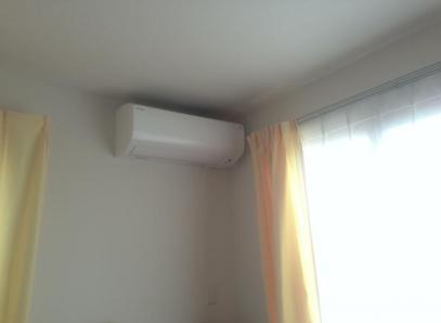エアコン取り付け後
