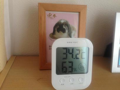 寝室の温度計