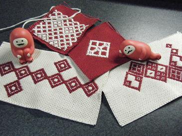 縫い縫い縫い・・・・とこぎん刺し