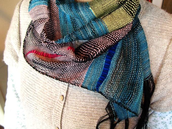 2013さをり織り体験-2
