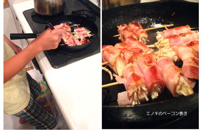 息子の調理②