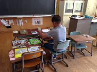 学習参観_そうたの机_5年生