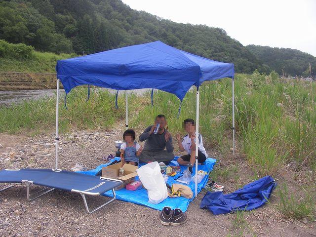 武儀川にて20130609