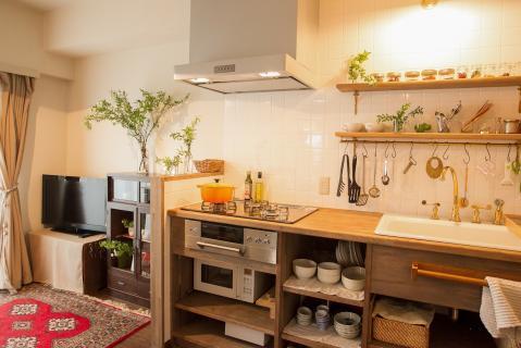 マンションリフォーム。オリジナルキッチン。