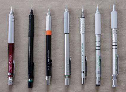 日本製 製図用0.4mmシャープペン 7種