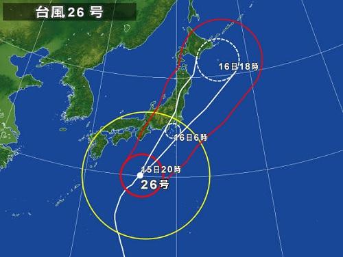 131015_台風26号接近