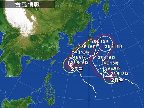 131023_台風27号接近