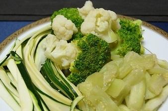 鴨しゃぶの野菜2013828