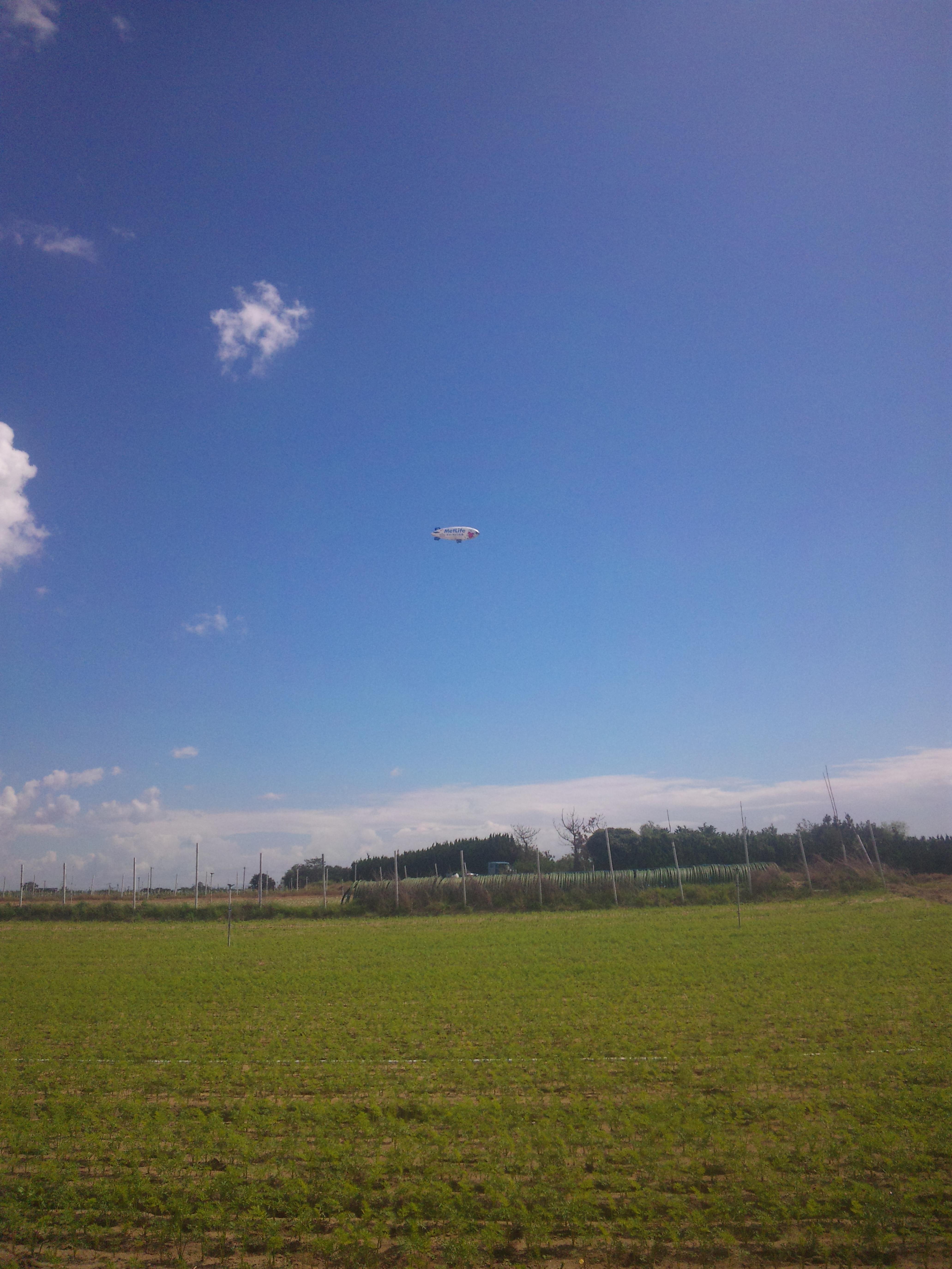 空に飛行船