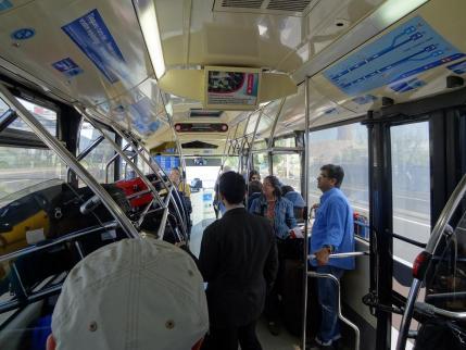 2013年5月23日バルセロナ空港バスの車内