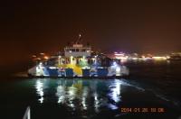 旗津から出港するフェリー140126