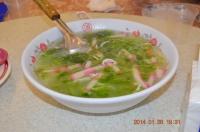 新冠洲活海鮮の海苔シラススープ140126
