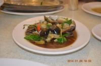 新冠洲活海鮮のハマグリ炒め140126