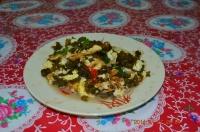 四重渓温泉新興風味餐の海藻みたいな山菜炒め140127