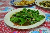 四重渓温泉新興風味餐の山蘇魚干140127