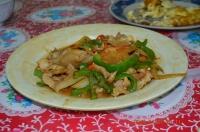 四重渓温泉新興風味餐の炒山豬肉140127