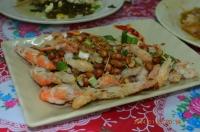 四重渓温泉新興風味餐の炸溪蝦140127