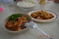 墾丁珍味平價海產の合菜のごはんは丼で140128