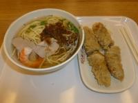 周氏蝦巻の蝦巻1份と担仔麺131005