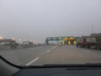 撤去が進む第二高速後龍收費站140104