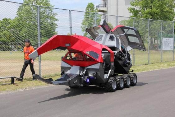 カブトムシ型巨大ロボット