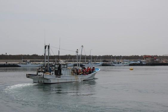 漁業体験出航
