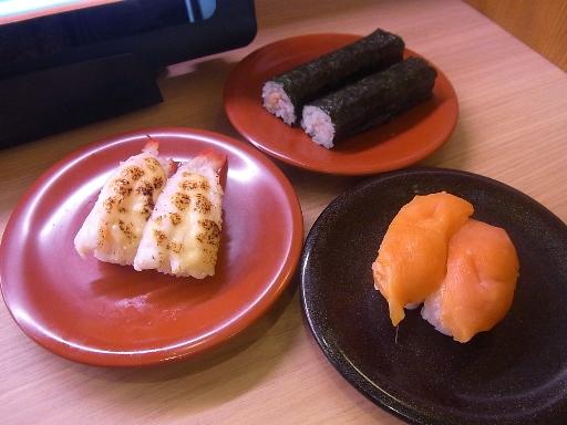 納豆巻き・黒ミル貝・炙りチーズ海老