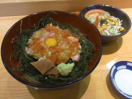 海ぶどう丼(サラダ付)