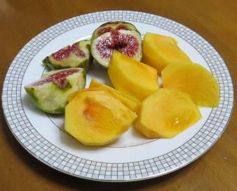 次郎柿とイチジク