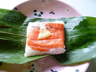 鮭の笹寿司