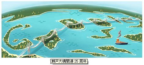 瀬戸大橋開通25周年