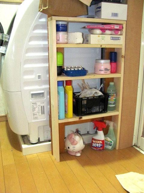 脱衣所(洗濯機脇)の棚