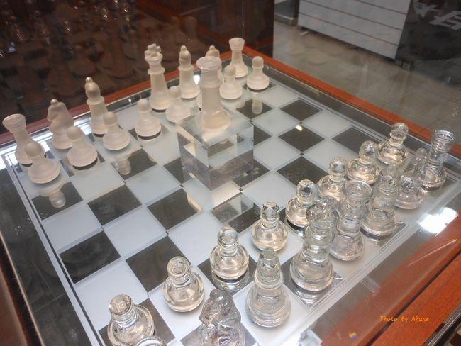 撮影に使われたチェス
