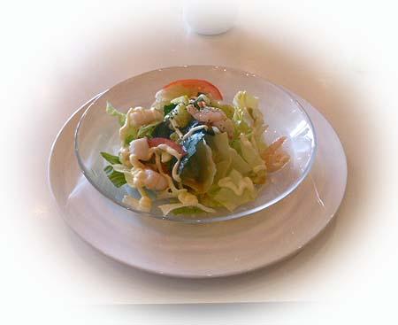 海老と小柱のサラダ