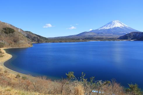 本栖湖からの富士山-4