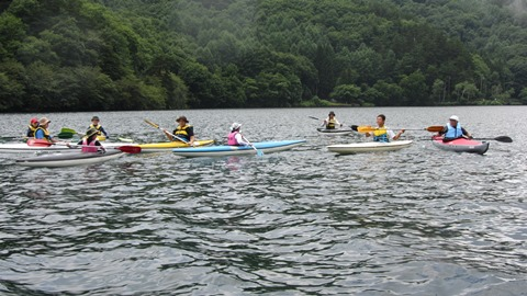 木崎湖カヌー教室2