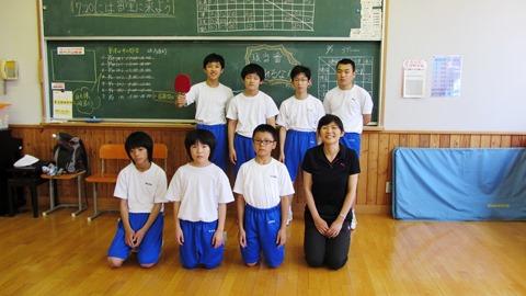 白馬中学卓球部の子供たち2
