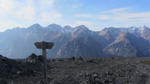 蝶ヶ岳から望む北アルプス穂高連峰