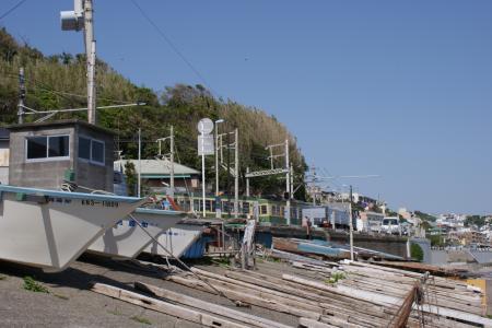 腰越漁船と江ノ電