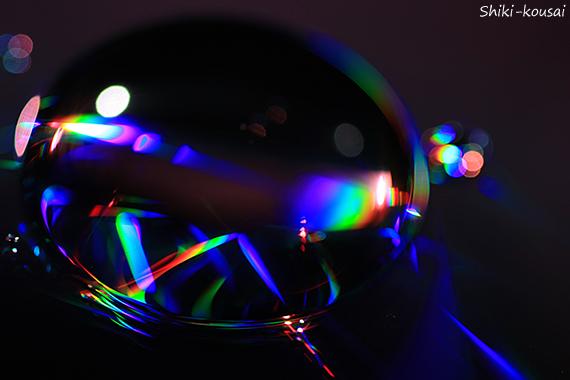 光の水玉写真・光跡
